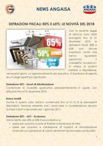 Detrazioni fiscali 50% e 65%